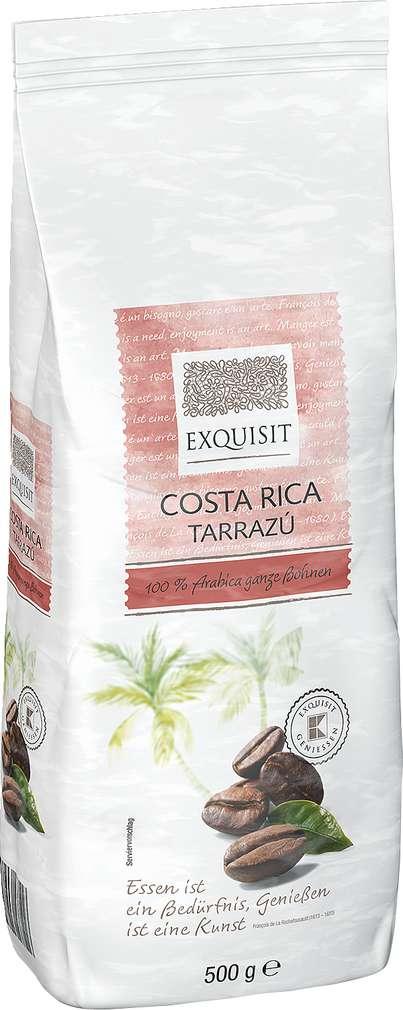 Abbildung des Sortimentsartikels Exquisit Costa Rica Tarrazu 100% Arabica ganze Bohnen 500g