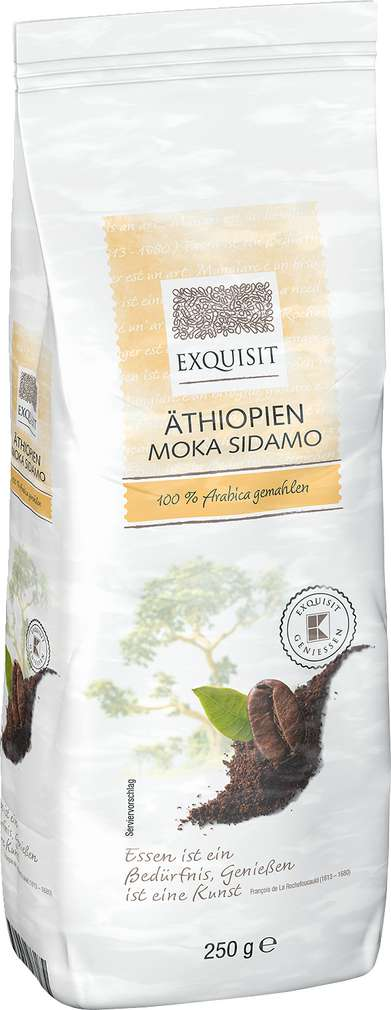 Abbildung des Sortimentsartikels Exquisit Äthiopien Moka Sidamo 100% Arabica gemahlen 250g