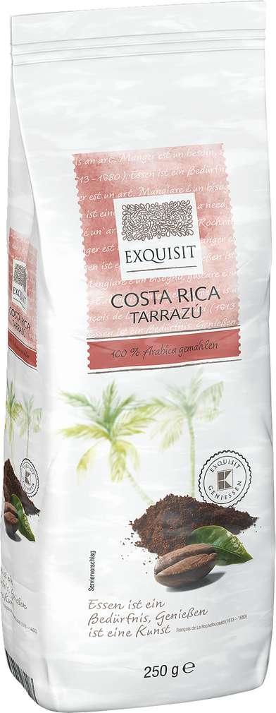 Abbildung des Sortimentsartikels Exquisit Costa Rico Tarrazú 100% Arabica gemahlen 250g
