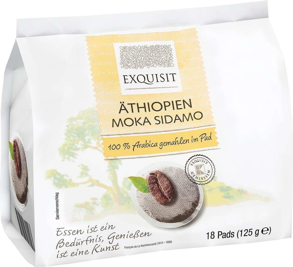 Abbildung des Sortimentsartikels Exquisit Äthiopien Moka Sidamo 18 Pads 125g