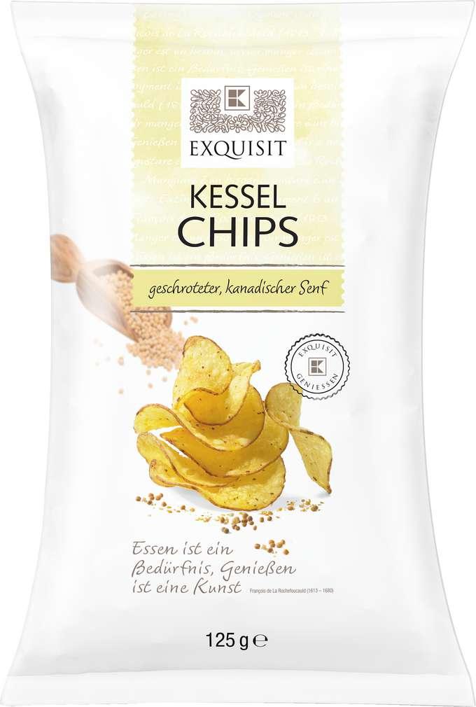 Abbildung des Sortimentsartikels Exquisit Premium Chips geschroteter, kanadischer Senf 125g
