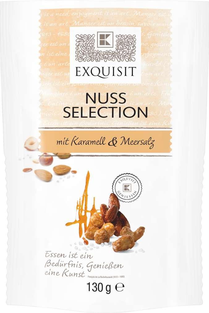 Abbildung des Sortimentsartikels Exquisit Nuss Selection mit Karamell und Meersalz 130g