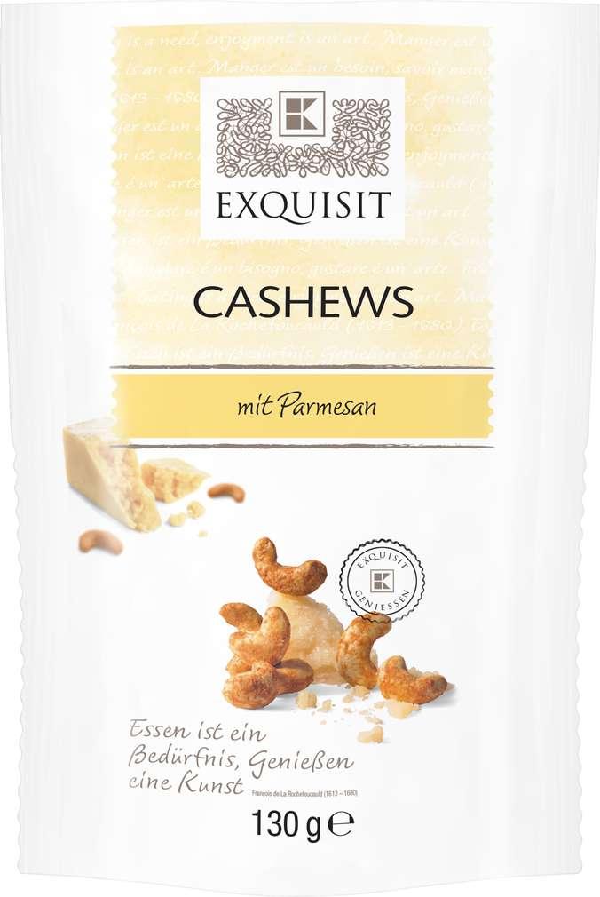 Abbildung des Sortimentsartikels Exquisit Cashews mit Parmesan 140g