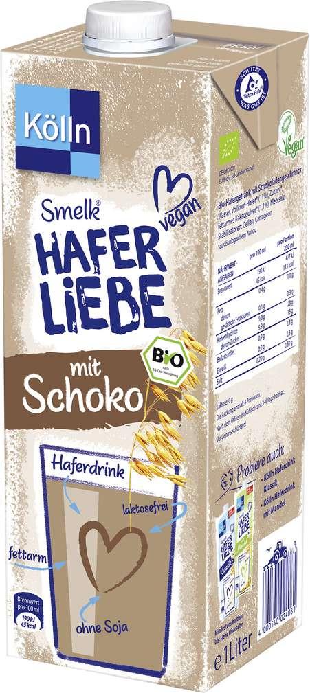 Abbildung des Sortimentsartikels Kölln Bio Smelk Haferliebe Schoko 1,0l