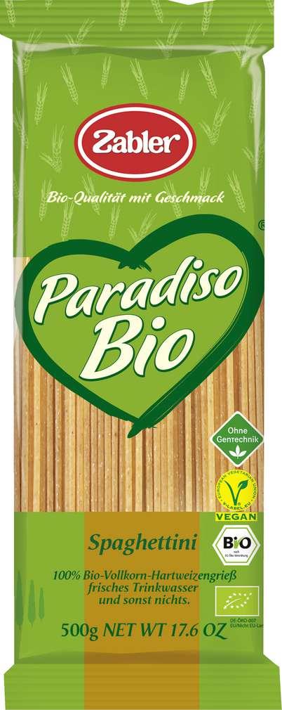 Abbildung des Sortimentsartikels Zabler Paradiso Bio Spaghettini Vollkorn 500g