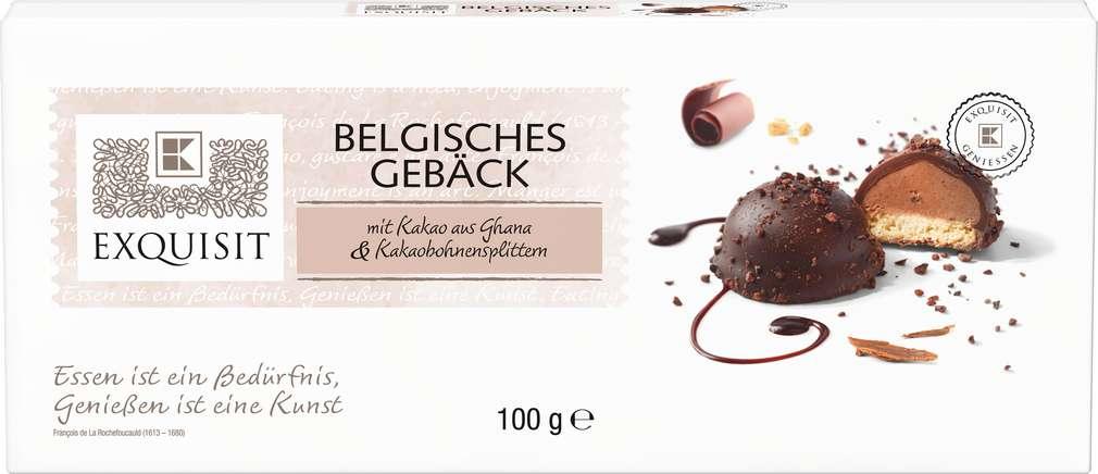 Abbildung des Sortimentsartikels Exquisit Belgisches Gebäck mit Kakao & Kakaobohnensplittern 100g