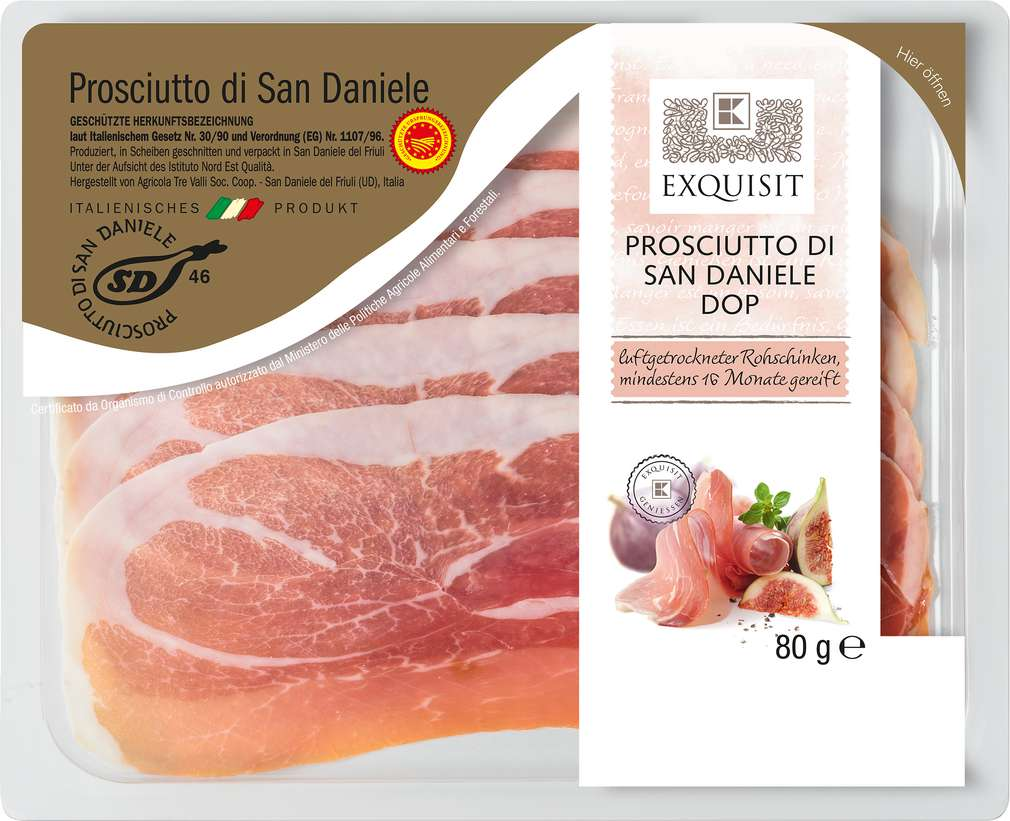 Abbildung des Sortimentsartikels K-Favourites Prosciutto di San Daniele DOP 80g