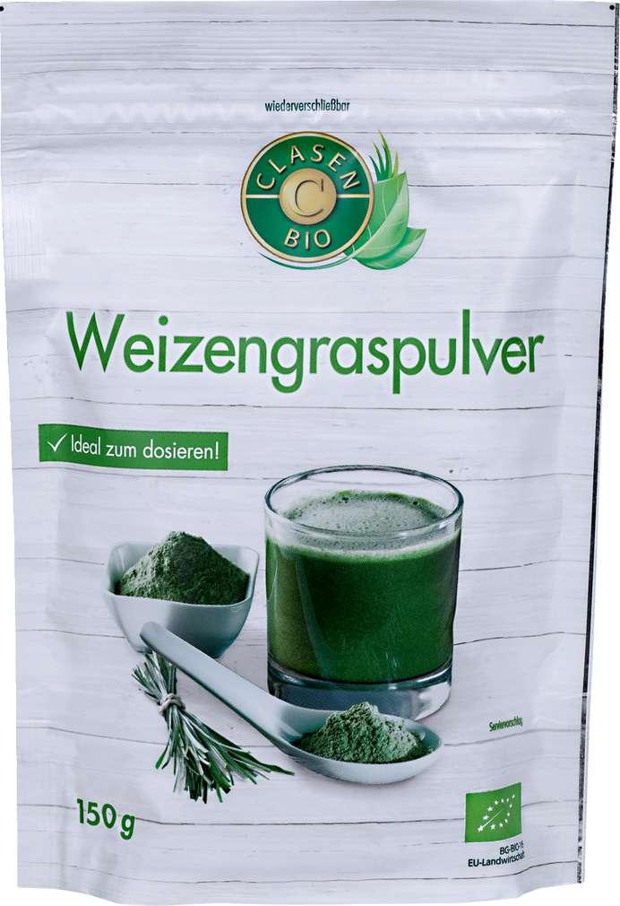 Abbildung des Sortimentsartikels Clasen Bio Weizengraspulver 150g