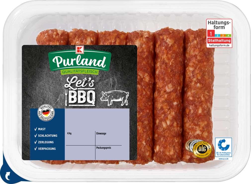 Abbildung des Sortimentsartikels K-Purland Let´s BBQ Cevapcici vom Schwein 6 Stück
