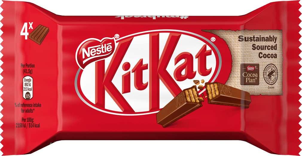 Abbildung des Sortimentsartikels KitKat Schokoriegel 4x41,5g