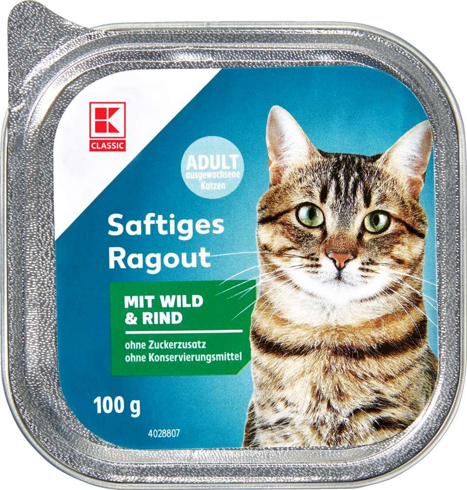 Abbildung des Sortimentsartikels K-Classic Katzennahrung Wild+Rind 100g