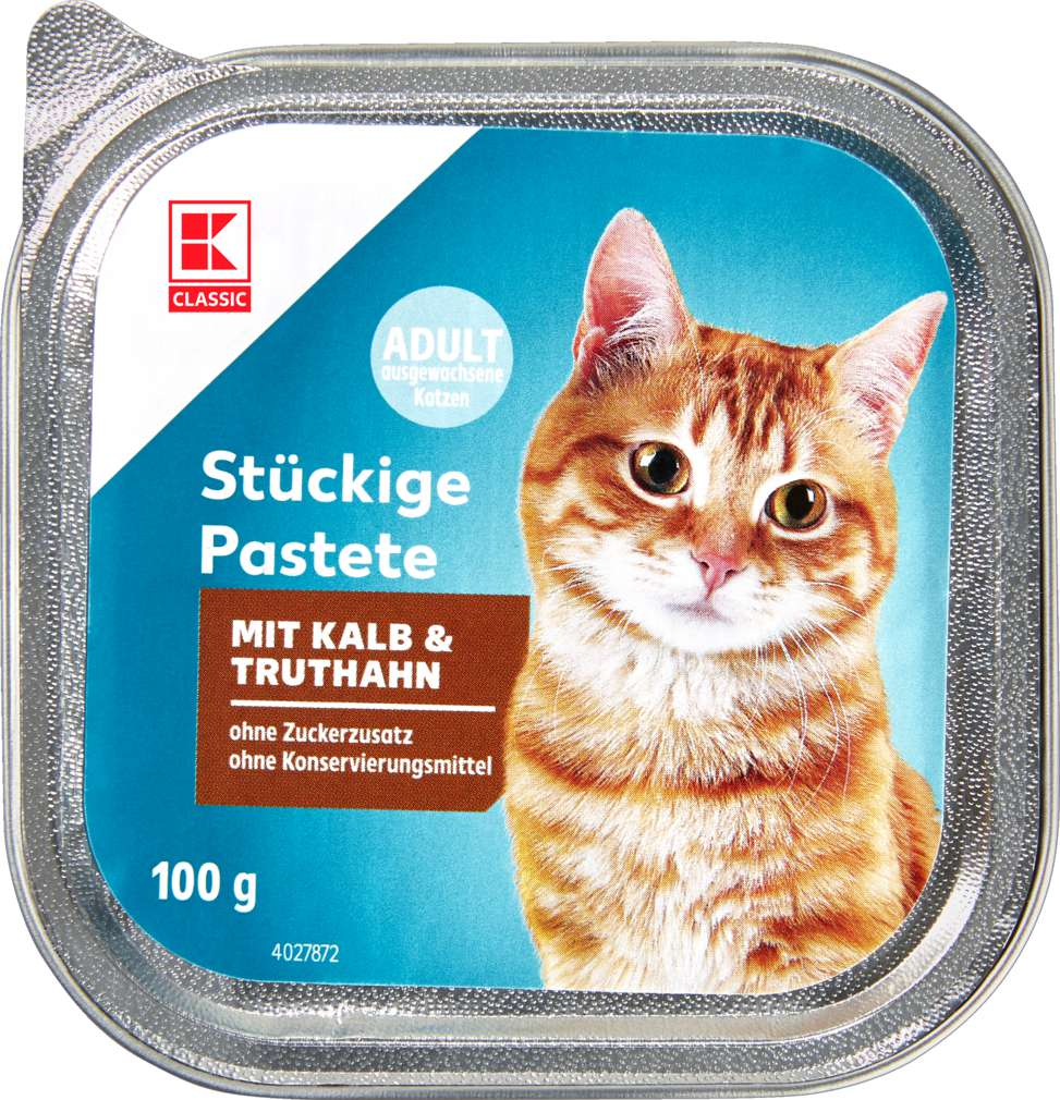 Abbildung des Sortimentsartikels K-Classic Katzennahrung Kalb & Truthahn 100g