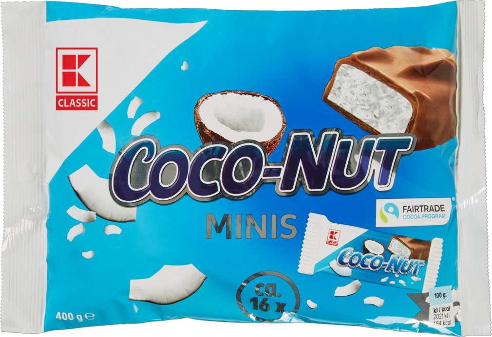 Abbildung des Sortimentsartikels K-Classic Schokoriegel Mini Cocos 400g