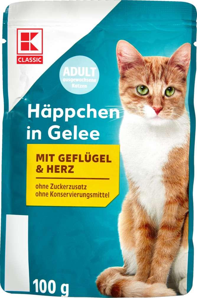 Abbildung des Sortimentsartikels K-Classic Katzennahrung Geflügel+Herz 100g