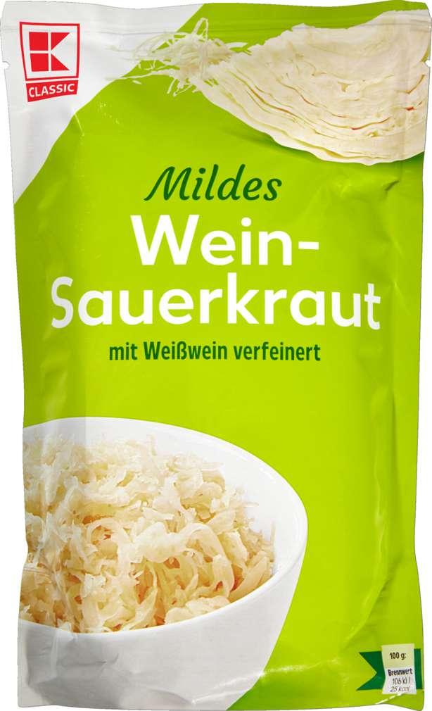 Abbildung des Sortimentsartikels K-Classic Sauerkraut im Standbeutel 520g