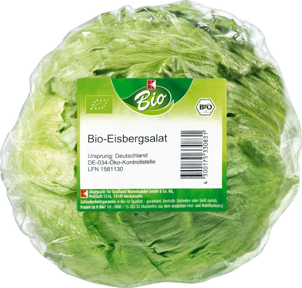 Abbildung des Sortimentsartikels K-Bio Eisbergsalat