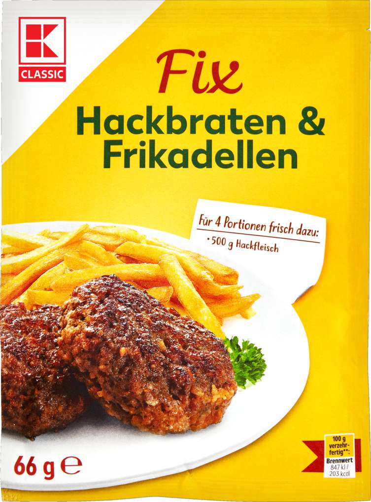 Abbildung des Sortimentsartikels K-Classic Fix für Hackfleisch 66g
