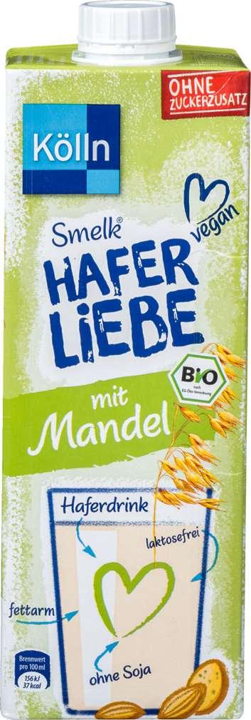Abbildung des Sortimentsartikels Kölln Bio Smelk Haferliebe Mandel 1,0l