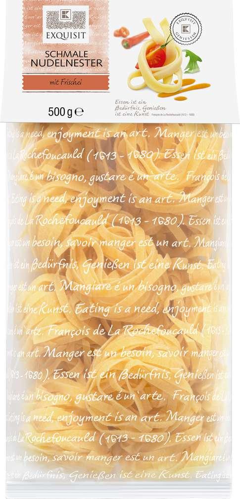 Abbildung des Sortimentsartikels Exquisit Schmale Nudelnester 500g