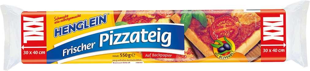 Abbildung des Sortimentsartikels Henglein Frischer Pizzateig XXL 550g