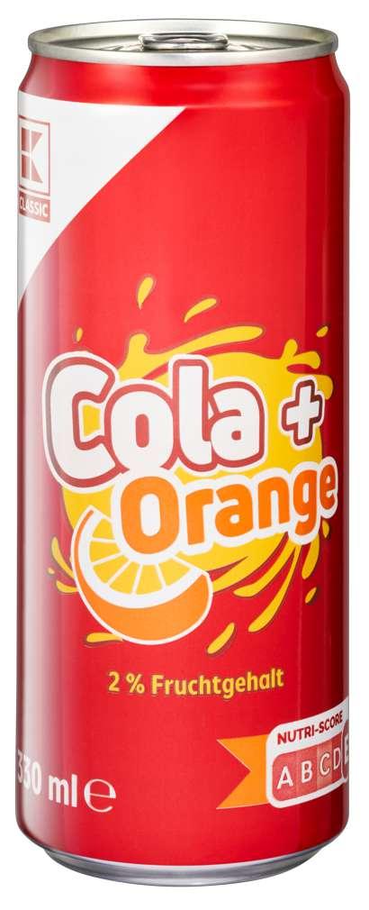 Abbildung des Sortimentsartikels K-Classic Cola+Orange 0,33l
