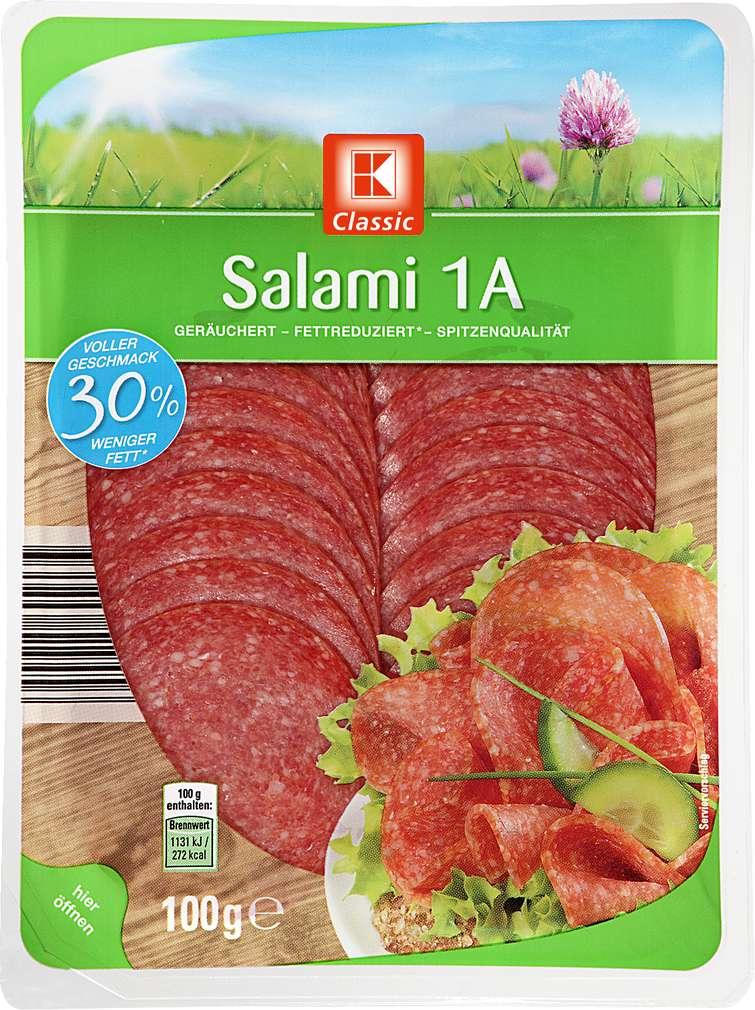 Abbildung des Sortimentsartikels K-Classic Salami 1A 100g
