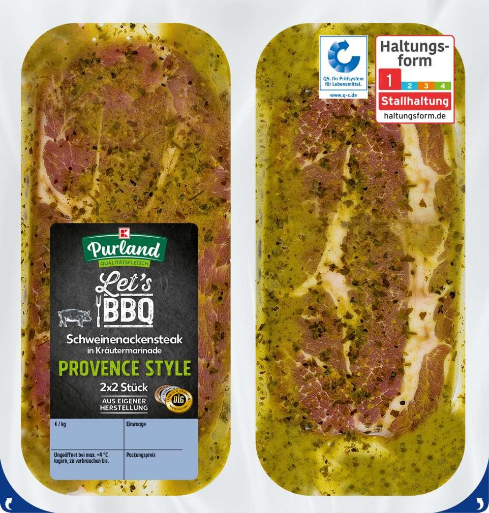 Abbildung des Sortimentsartikels K-Purland Let´s BBQ Schweinenackenst. Provence Style mariniert 4 Stück