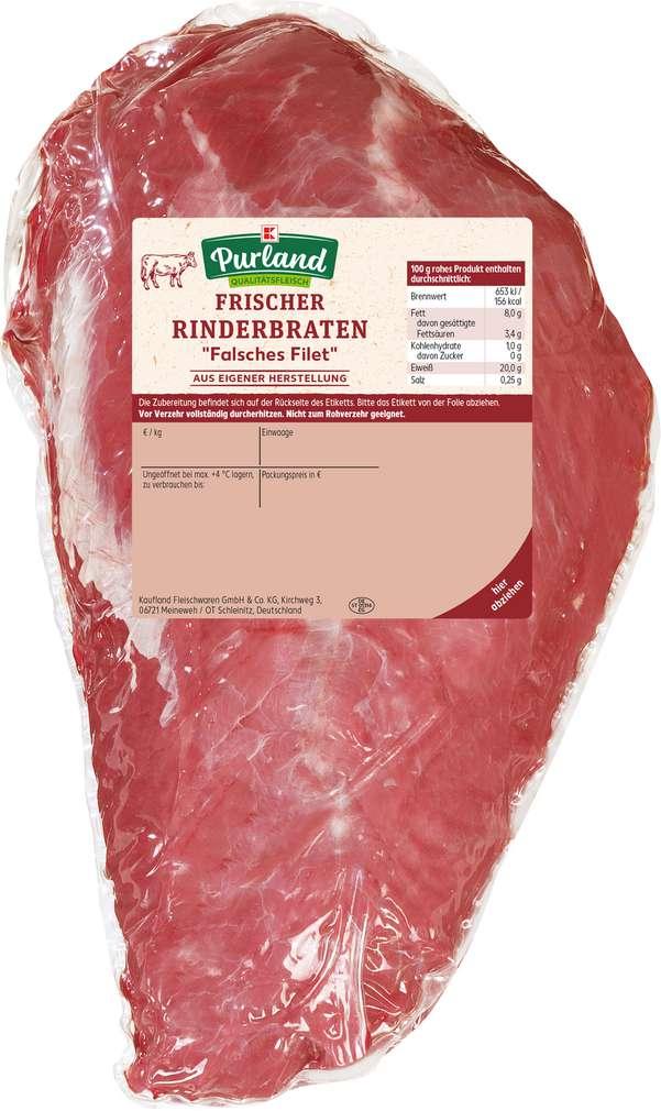 Abbildung des Sortimentsartikels K-Purland Rinderbraten falsches Filet
