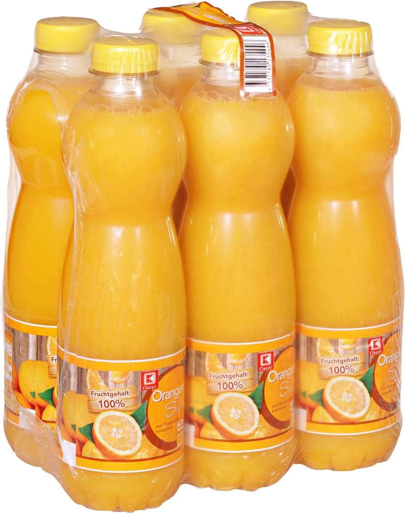 Abbildung des Sortimentsartikels K-Classic Orangensaft 6x1l