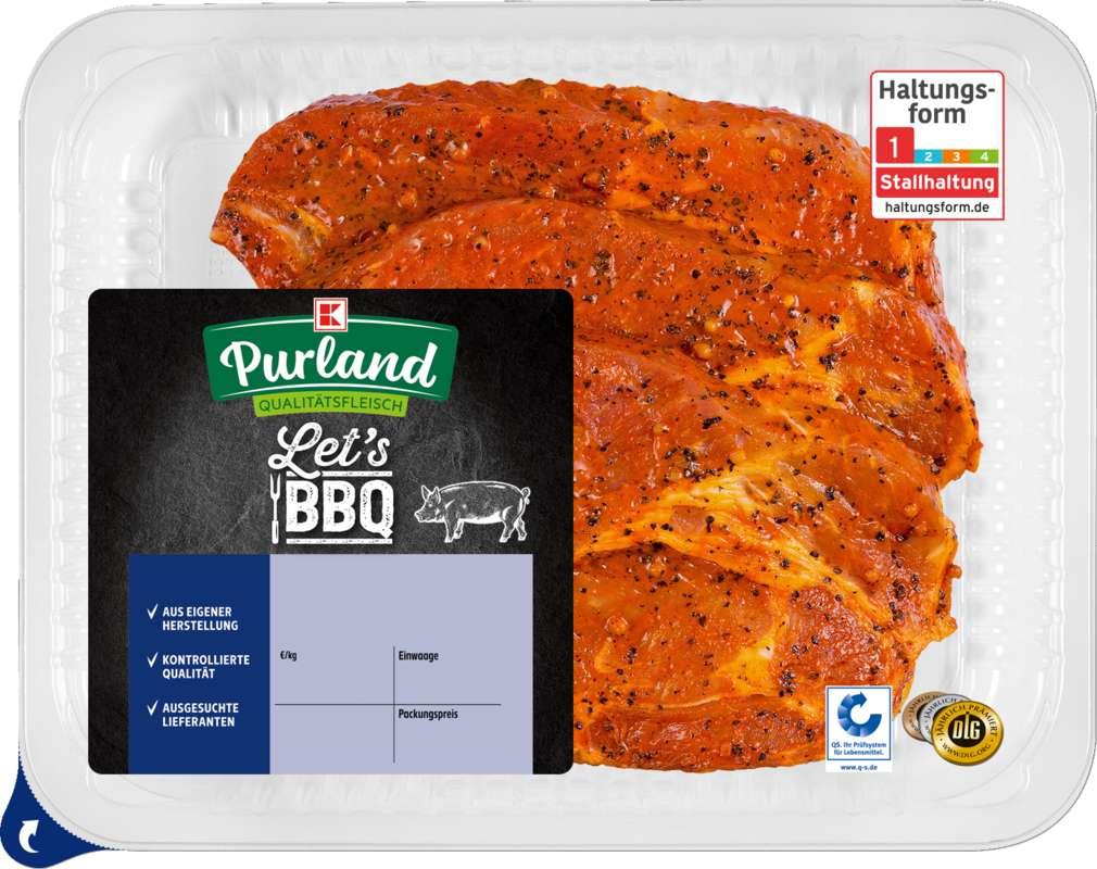 Abbildung des Sortimentsartikels K-Purland Nacken-/Kammkotelett vom Schwein, mariniert, 3 Stück