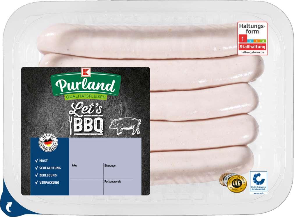 Abbildung des Sortimentsartikels K-Purland Feine Bratwurst 5 Stück 250g
