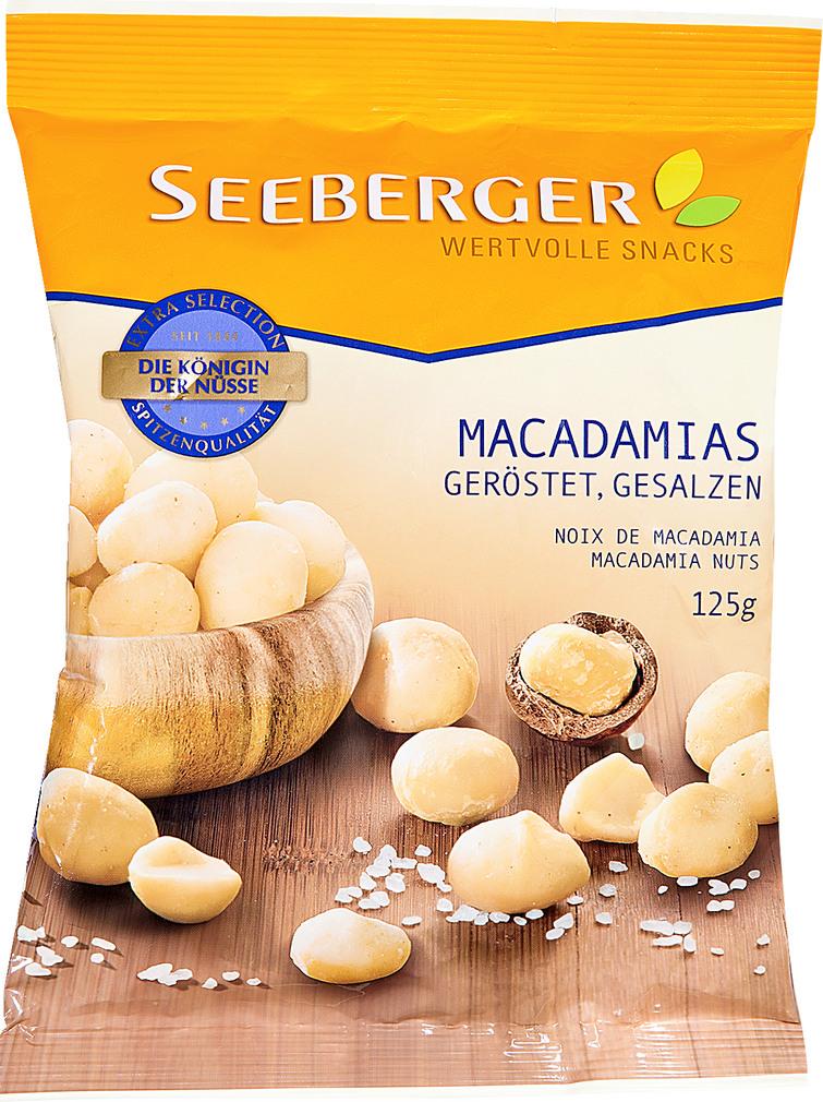 Abbildung des Sortimentsartikels Seeberger Macadamias geröstet, gesalzen 125g