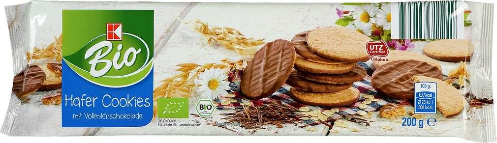 Abbildung des Sortimentsartikels K-Bio Hafer-Cookies mit Vollmilchschokolade 200g