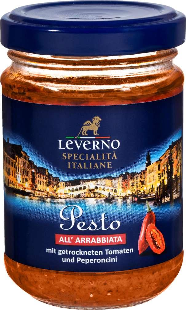 Abbildung des Sortimentsartikels Leverno Pesto All Arrabbiata 125g