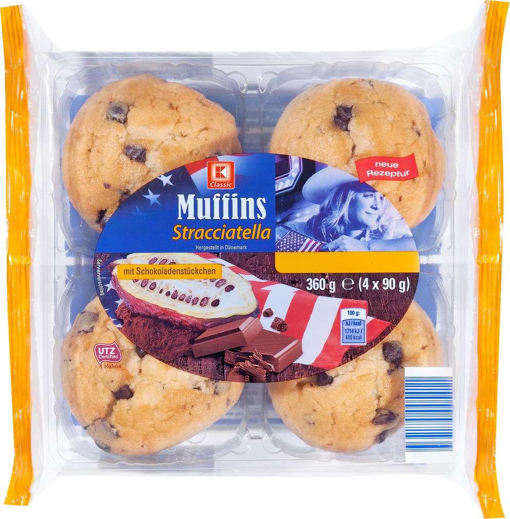 Abbildung des Sortimentsartikels K-Classic Muffins Stracciatella 360g, 4 Stück