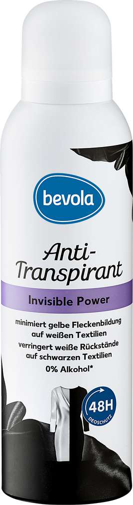 Abbildung des Sortimentsartikels Bevola Anti-Transpirant Invisible Power 200ml
