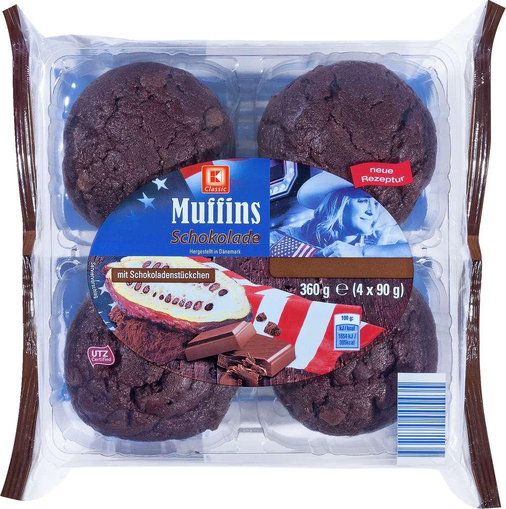 Abbildung des Sortimentsartikels K-Classic Muffins Schokolade 360g, 4 Stück