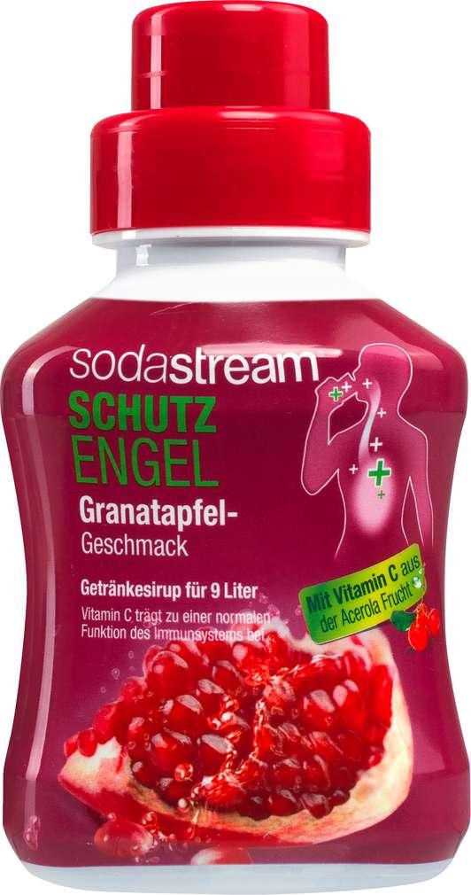 Abbildung des Sortimentsartikels SodaStream Sirup Schutzengel Granatapfel 375ml