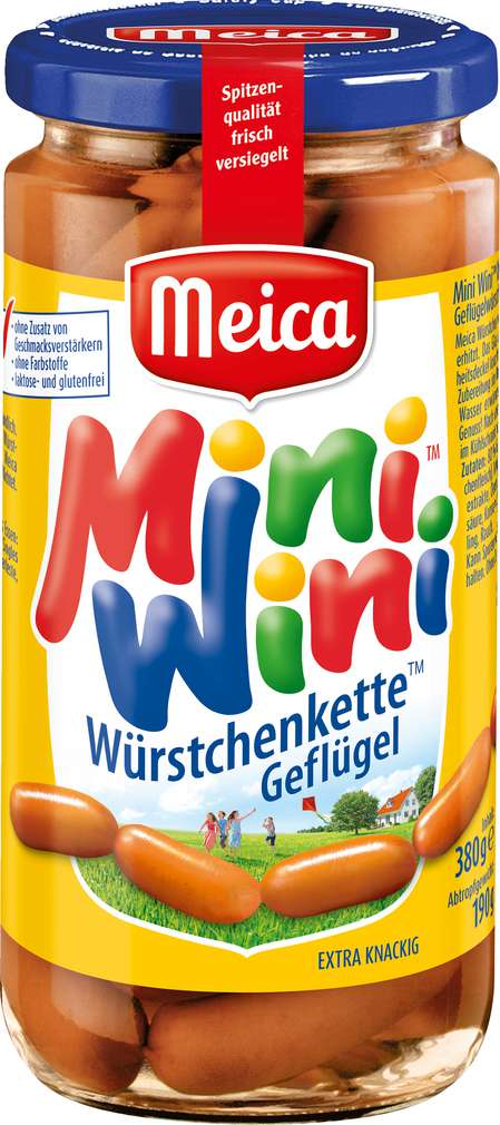 Abbildung des Sortimentsartikels Meica Mini Wini Kette Geflügel 190g