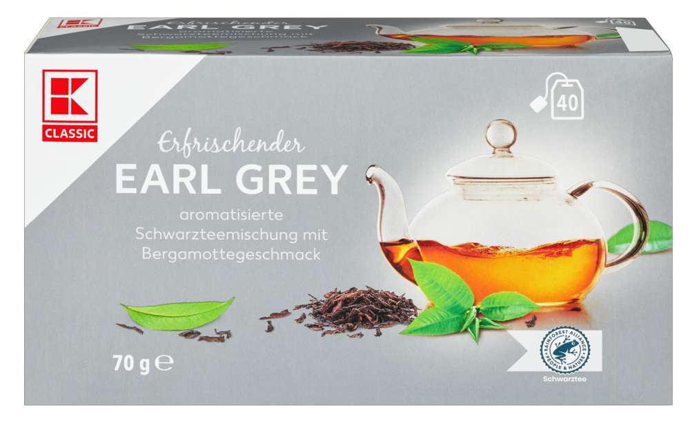 Abbildung des Sortimentsartikels K-Classic Earl Grey Schwarztee, aromatisiert 40x1,75g