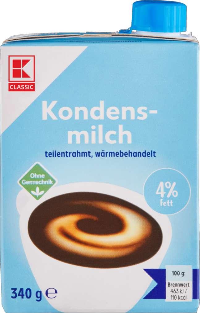 Abbildung des Sortimentsartikels K-Classic Kondensmilch 4% Fett 340g