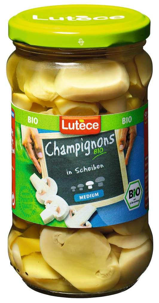 Abbildung des Sortimentsartikels Lutèce Champignons Bio in Scheiben 280g
