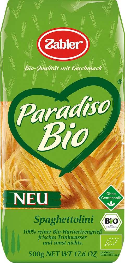Abbildung des Sortimentsartikels Zabler Paradiso Bio-Spaghettolini 500g