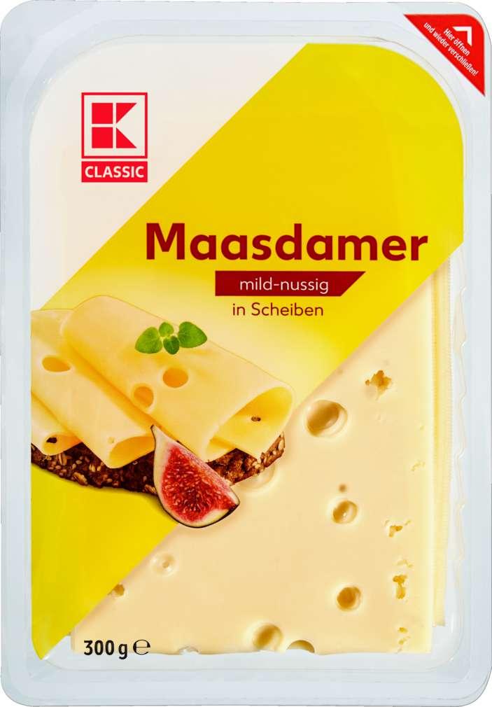 Abbildung des Sortimentsartikels K-Classic Maasdamer in Scheiben 300g