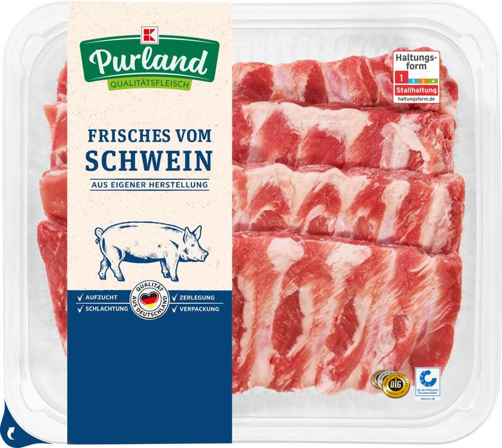 Abbildung des Sortimentsartikels K-Purland Schälrippchen vom Schwein