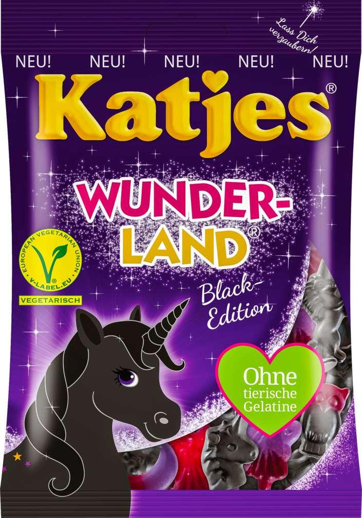 Abbildung des Sortimentsartikels Katjes Wunderland Black o.tierische Gelatine 200g