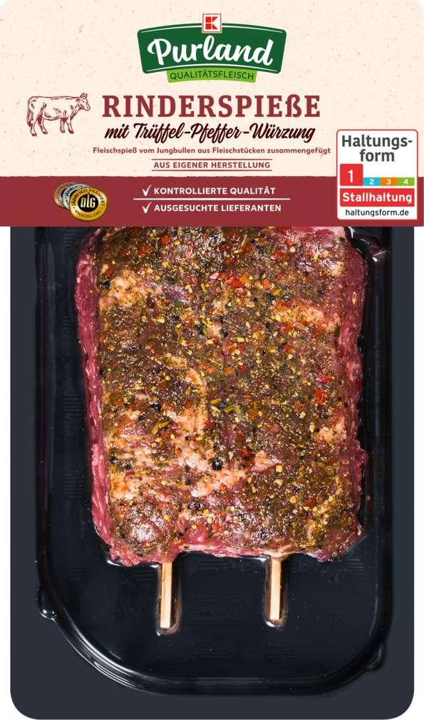 Abbildung des Sortimentsartikels K-Purland Rinderspieße / Fleischspieß vom Jungbullen