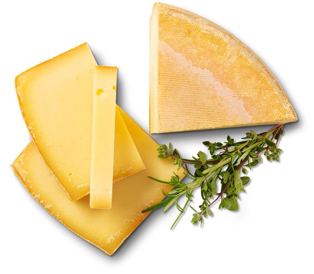 Abbildung des Sortimentsartikels Andechser Bio Bergtaler Hartkäse 45% Fett i.Tr. ca. 3,5kg