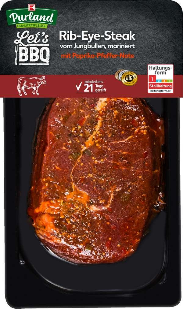 Abbildung des Sortimentsartikels K-Purland Rib-Eye-Steak vom Jungbullen