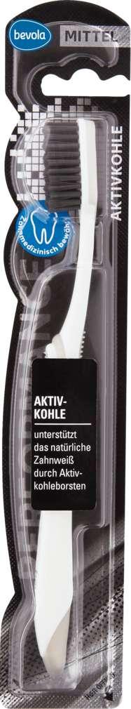 Abbildung des Sortimentsartikels Bevola Zahnbürste Aktivkohle 1 Stück